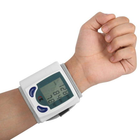 Wrist Blood Pressure Cuff Wrist Monitor Automatic Di gital Sphygmomanometer - BP Machine Measures Pulse, Diastolic and Systolic High Accurate Meter Best Reading High Normal and