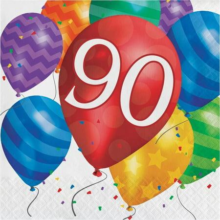 Creative Converting Balloon Blast 90th Birthday Napkins, 16 ct](90th Birthday Tableware)