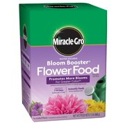 Miracle-Gro Water Soluble Bloom Booster Flower Food, Promotes more blooms for greater color versus unfed plants By MiracleGro