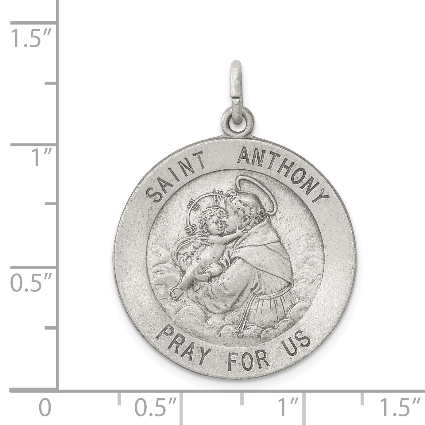 925 Sterling Silver Saint Anthony Medal Pendant Charm Necklace Religious Patron St Fine Jewelry Gifts For Women For Her - image 1 de 2