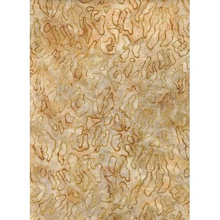 "Java Block Printed (Tjap Printed) Tan Sand Animal Print Batik Bali Tie Dye (Ikat) ~ HALF YARD ~ AMD-13119-267 Adventure Kalahari 3 Quilt Fabric 100% Cotton 45"" Wide,.., By Robert Kaufman"