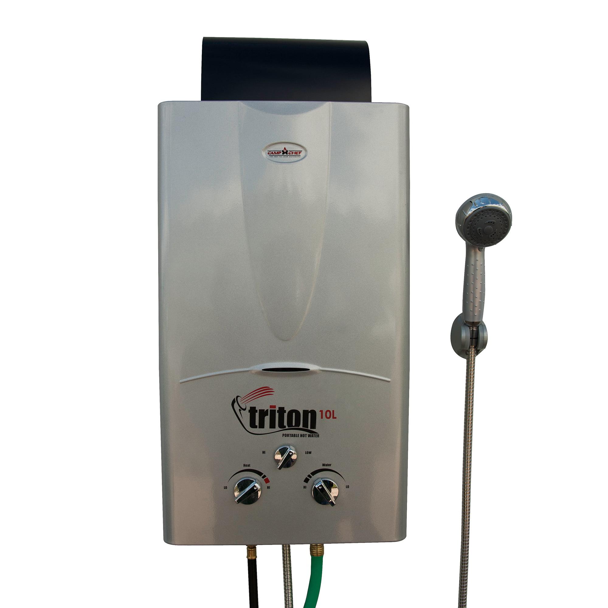 Camp Chef Triton 10 Liter Gas Portable Camp Water Heater w/ Shower Head | HWD10