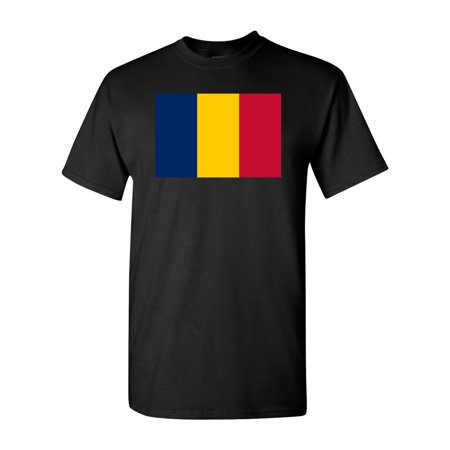 Country Flags T-shirt - Chad Country Flag Adult DT T-Shirt Tee