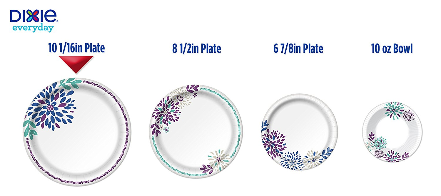 Dixie Everyday Disposable Paper Plates 10 1/16 Inch Plates 220 Count (5 Packs of 44 Plates); Designs May Vary - Walmart.com  sc 1 st  Walmart & Dixie Everyday Disposable Paper Plates 10 1/16 Inch Plates 220 ...