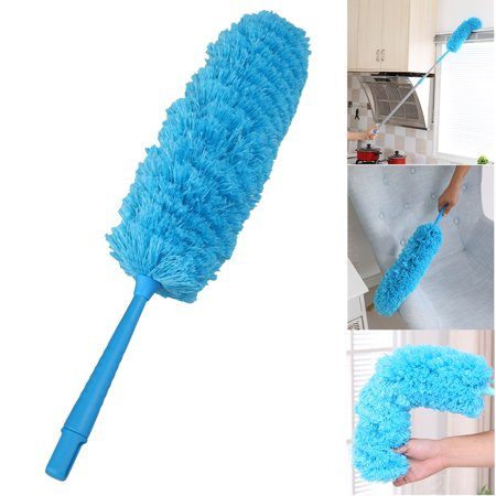 TSV Microfiber Feather Duster, Spider Web Cleaner 360° Flexible Bendable Removable Washable Head for Cars, Ceiling Fans Furniture,