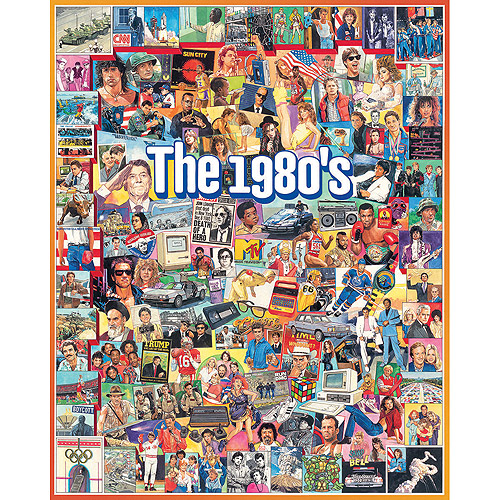 White Mountain Puzzles The Eighties 1000 Piece Jigsaw Puzzle by White Mountain Puzzles