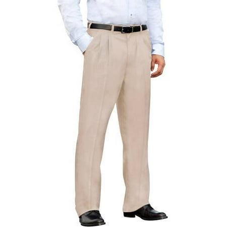 George Men's Pleated Front Wrinkle Resistant Pants - Walmart.com