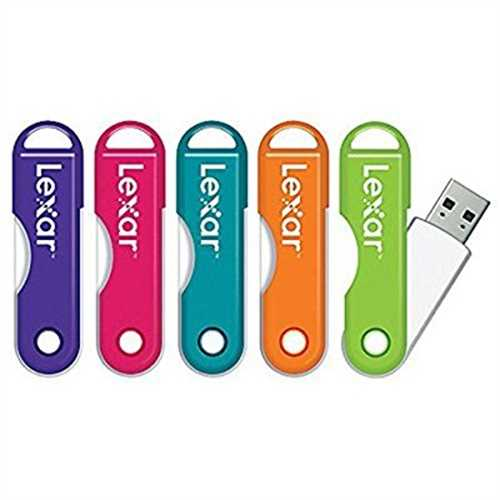 Lexar JumpDrive TwistTurn USB 2.0 Flash Drive, 16GB, Assorted Colors