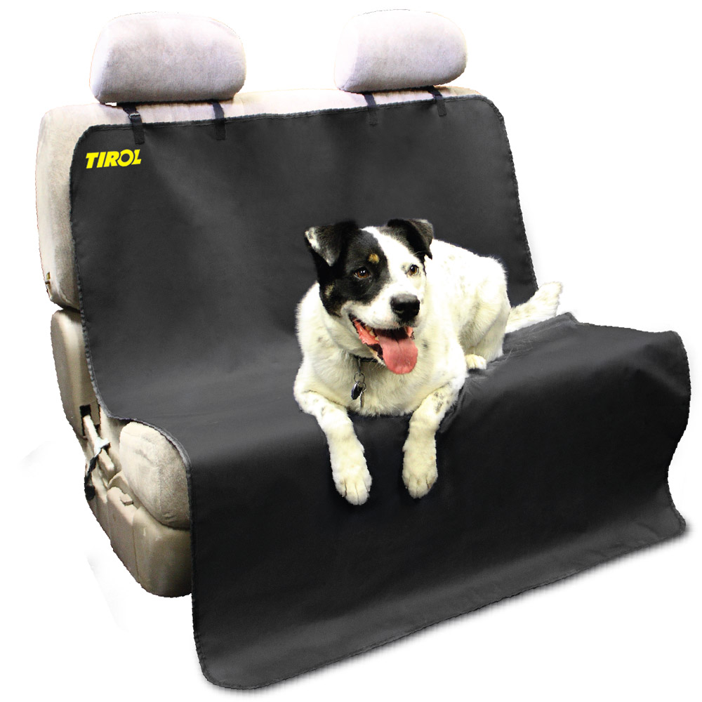 Tirol New Pet Seat Cover Waterproof Mat Car Back Seat Cover Bench Protector with Belts