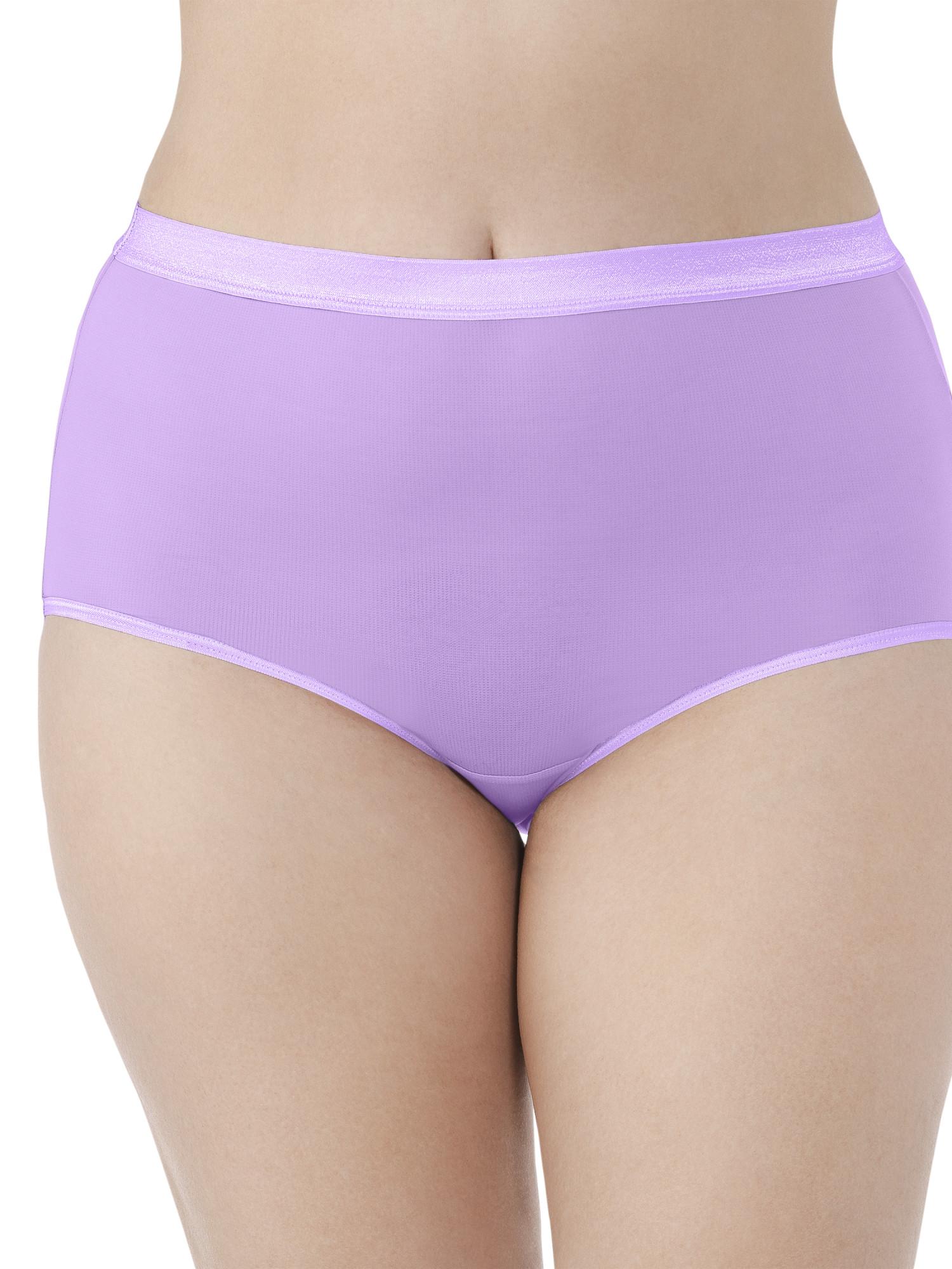 Women's Plus Everlight Brief Panties - 4 Pack