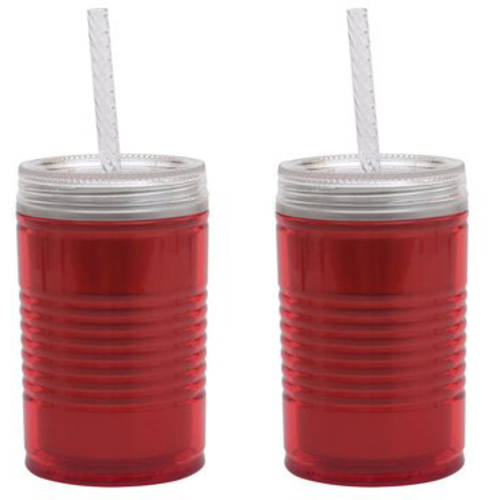 Mainstays 18 oz Double Wall Can Tumbler, 2-Pack