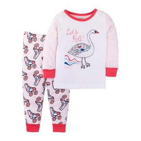 Cotton Long Sleeve T-Shirt & Pants, 2-piece Pajama Set (Baby Girls & Toddler Girls)