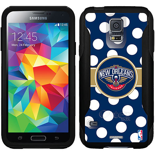 New Orleans Pelicans Polka Dots Design on OtterBox Commuter Series Case for Samsung Galaxy S5