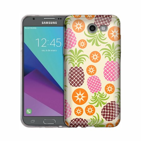 Samsung Galaxy J7 V Cute Pineapples and Starts Case