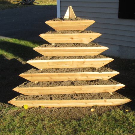 Infinite Cedar 5 ft. x 5 ft. Western Red Cedar Vertical - Red Cedar Garden