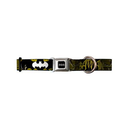 batman dc comics superhero yellow bat wings seatbelt fun pet dog cat collar