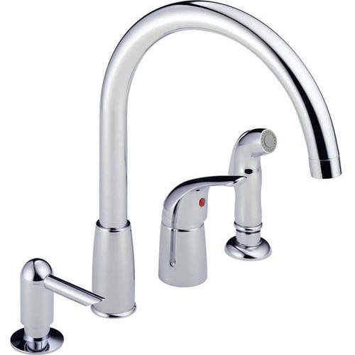 Peerless Widespread Kitchen Faucet and Side Spray, Available in Various Colors