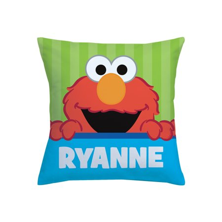 - Personalized Sesame Street Throw Pillow - Peek-A-Boo Elmo