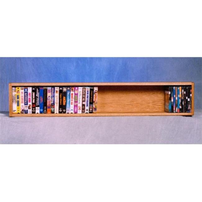 Wood Shed 108-4 W Solid Oak Wall or Shelf Mount DVD-VHS tape-Book Cabinet