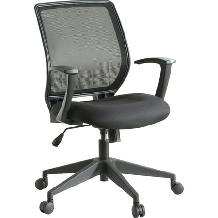 Lorell, LLR84868, Executive Mid-back Work Chair, 1 / Each, Black