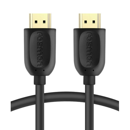 HDMI Cable, Fosmon Gold Plated High Speed [UHD 4K 2160p | HD 1080p | 3D] Eternet & Audio Return HDMI Cord for HDTV, Nintendo Switch, PS3, PS4 Slim/Pro, Xbox 360/One S, PC &