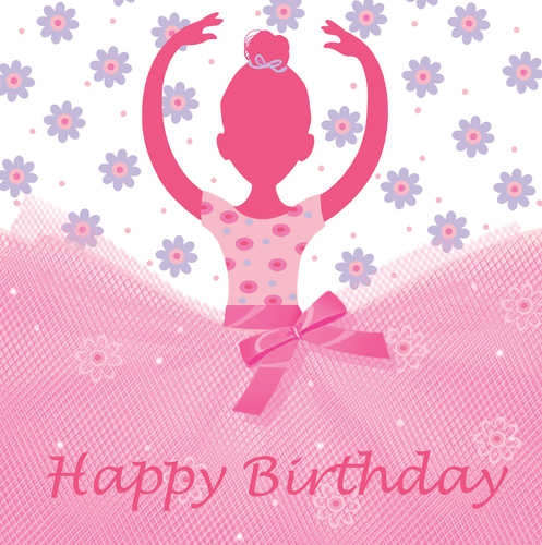 Ballerina Party Happy Birthday Lunch Napkins