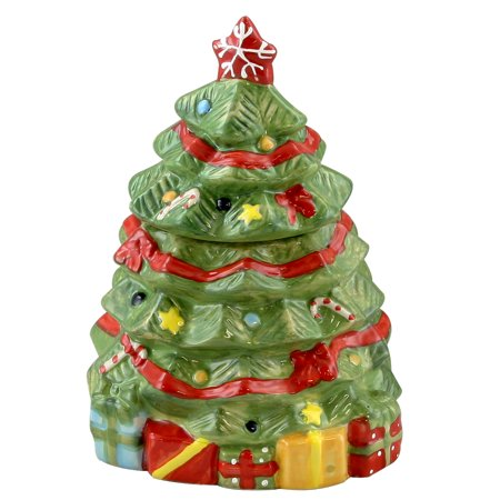 Christmas Tree Cookie Jar (Gibson Home Mirthful Treats 7.9