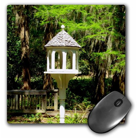 3dRose A Victorian influenced bird feeder is a lovely garden focal point at Edisto Memorial Gardens., Mouse Pad, 8 by 8 inches
