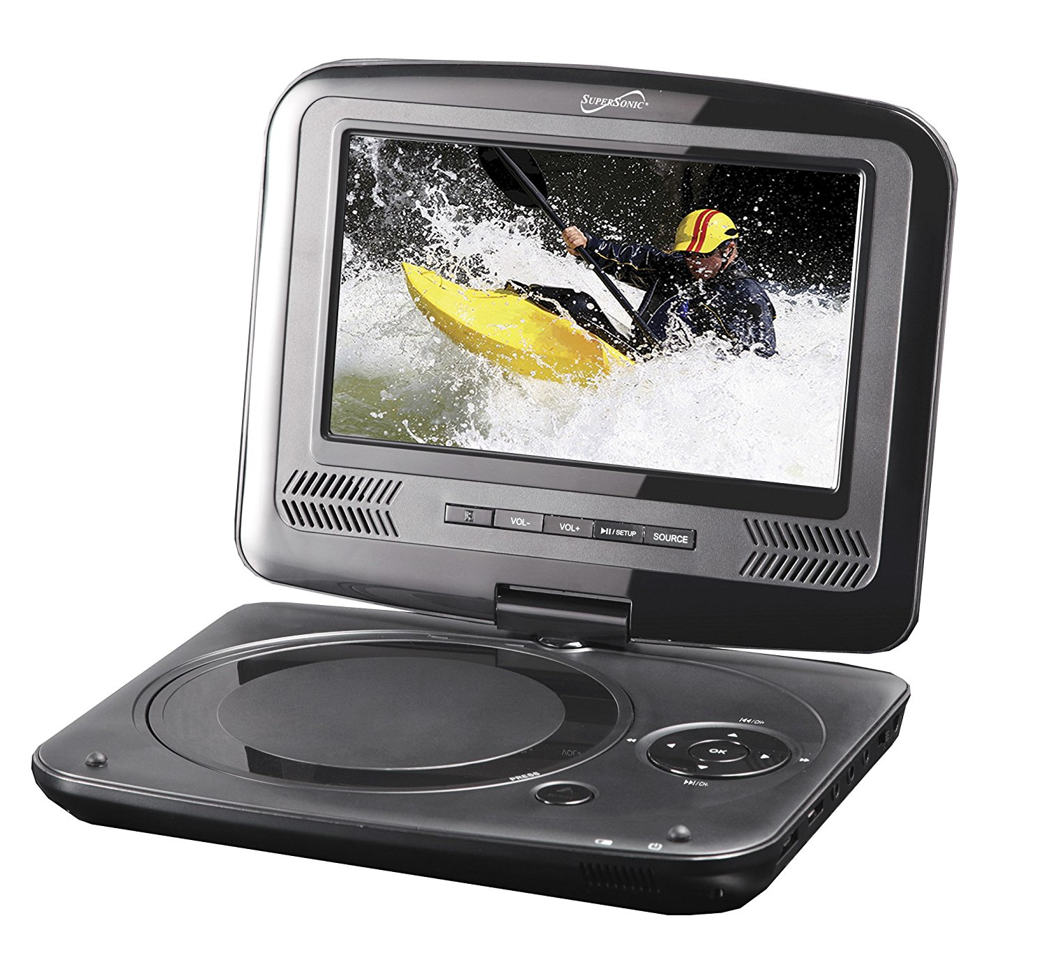 """Supersonic SC-259 9"""" TFT Portable DVD/CD/MP3 Player wit..."""
