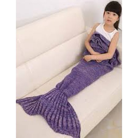 Mermaid tail blanket mermaid blanket blanket and throws for kids and Adult Mermaid Crochet Knitting Blanket, Best Birthday Christmas Gift Blanket Handmade Living Room Sleeping Blanket,