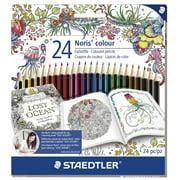 Staedtler Johanna Basford Noris Colored Pencil Set, 24-Colors