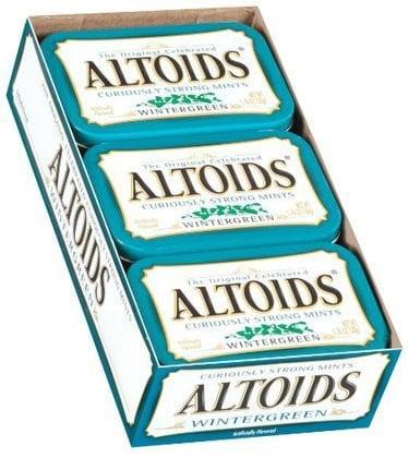 Altoids Wintergreen Mints, 1.76 ounce (12 Packs) by Wrigley