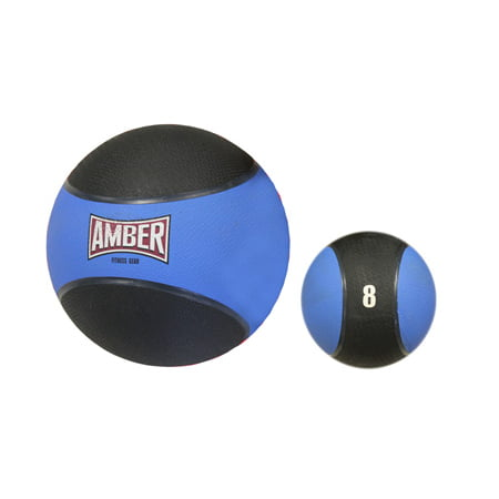 Bounceable Rubber Medicine Ball in Red w 8 lbs. Weight