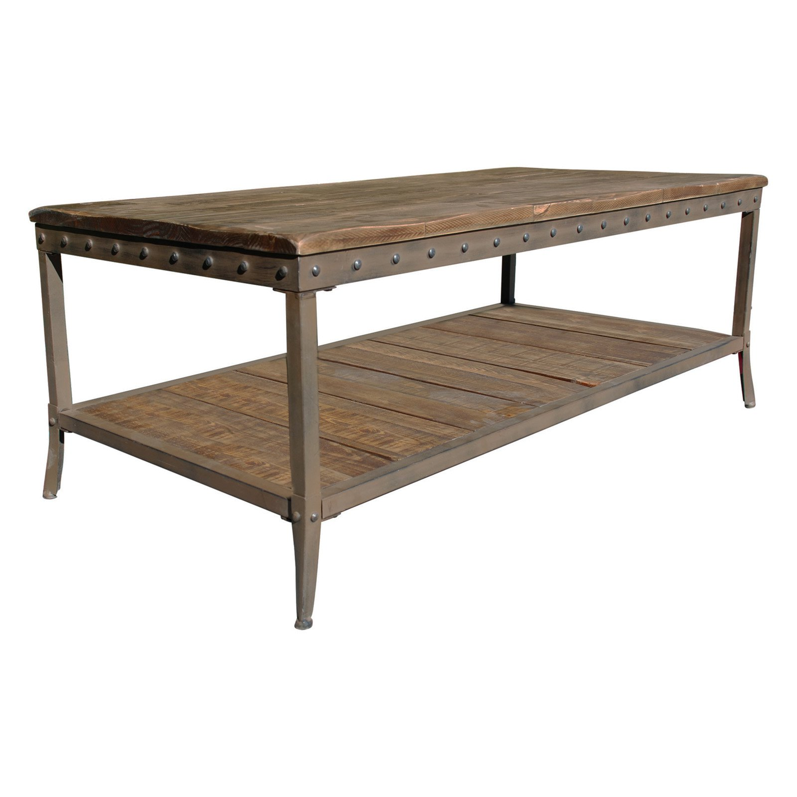!nspire Rustic Coffee Table with Shelf