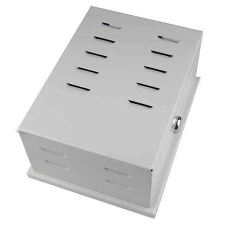 Unvrsl Thermostat Guard,Off-White,Metal 13J050 - Off Wireless Wall Thermostat