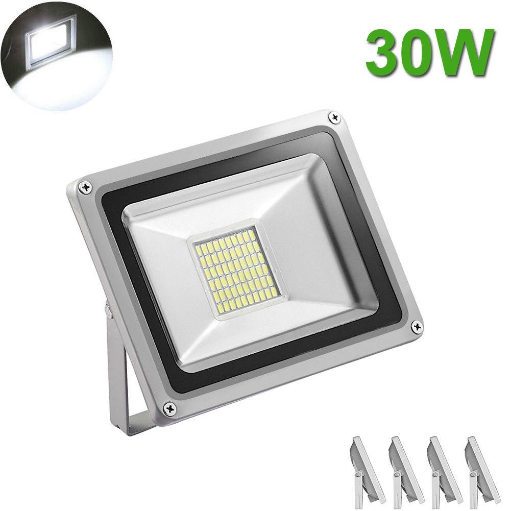 5 X 30W LED Flood Light Cool White SMD Landscape Outdoor Garden Spot Wall Lamp