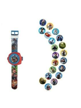 Avenger Superhero 24 Picture Projection Kids Boys Girls Children's Action Hero Watch  AVE-24P