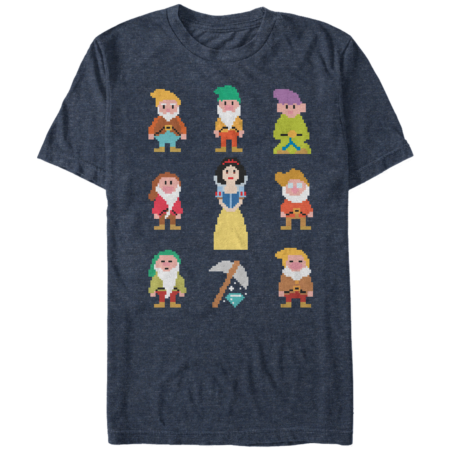 Snow White and the Seven Dwarves Men's Pixels T-Shirt