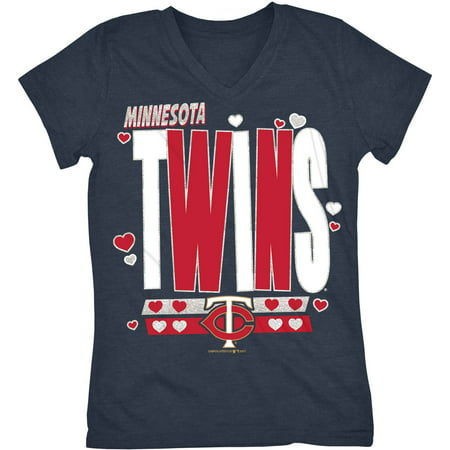 MLB Minnesota Twins Girls Short Sleeve Team Color Graphic Tee - Minnesota Twins Stadium