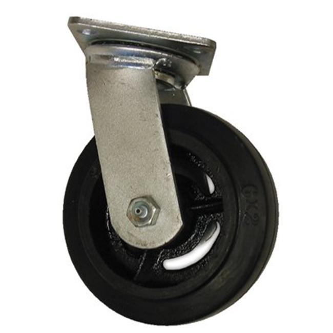 EZ Roll 273-EZ-0420-MOR-S 4X2In Rubber Tread-Castcore Swivel