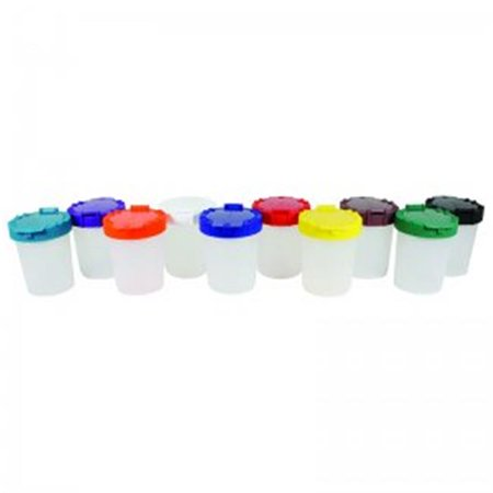 No Spill Paint Cup Assortmnt In Bag, 10 Per Pack - Pack of 2