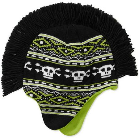 Faded Glory Boys Skull Print Mohawk Hat Walmart