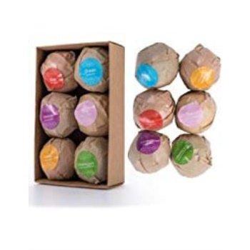 6Pcs Bath Bombs Gift Sets Bubble Spa Salt Balls Foot Relaxation