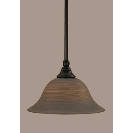 Toltec Lighting-23-MB-603-One Light Mini-Pendant  Matte Black Finish (603 Matte)