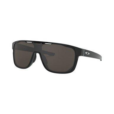 Oakley OO9390-0131 Crossrange Shield Polished Black Square Warm Grey Lens Sunglasses Oakley Black Lens