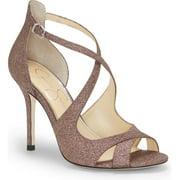 Jessica Simpson Averie Multi Glitter Open Toe High Heel Formal Stiletto Sandals