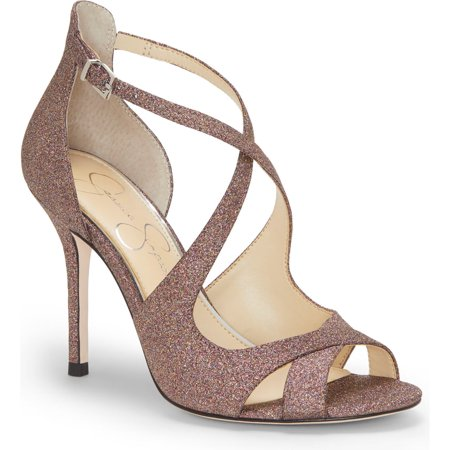 Jessica Simpson Averie Multi Glitter Open Toe High Heel Formal Stiletto Sandals