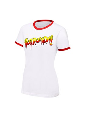 """Official WWE Authentic Ronda Rousey """"Hot Ronda"""" Women's  T-Shirt White Small"""