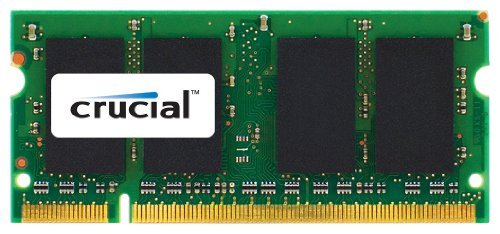 Crucial 2GB DDR2 SDRAM Memory Module - 2 GB (1 x 2 GB) - DDR2 SDRAM - 800 MHz DDR2-800/PC2-6400 - Non-ECC - Unbuffered - 200-pin SoDIMM