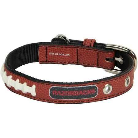 Arkansas Razorbacks Classic Leather Collar - Brown (Arkansas Razorbacks Leather)